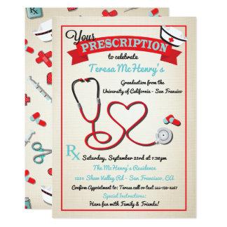 Invitation médical de stéthoscope de coeur