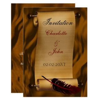 invitation médiévale de cru de rouleau
