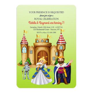 Invitation médiévale de fête d'anniversaire de