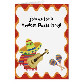 Invitation mexicaine d'anniversaire de partie de carte de vœux