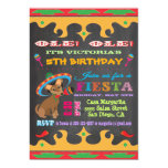Invitation mexicaine de fête d'anniversaire de carton d'invitation  12,7 cm x 17,78 cm