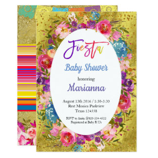 Invitation mexicaine de partie de baby shower de