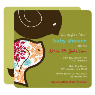 Invitation mignon de partie de baby shower de