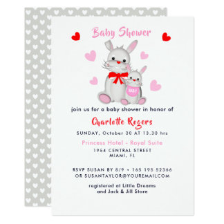 Invitation mignon superbe fantaisie de baby shower