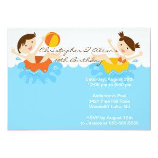 Invitation MIGNONNE d'anniversaire de réception au Carton D'invitation 12,7 Cm X 17,78 Cm