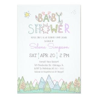 Invitation mignonne de baby shower d'animaux de