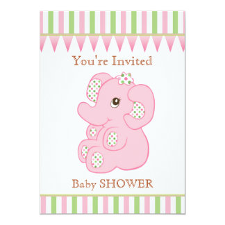 Invitation mignonne de baby shower de fille carton d'invitation  12,7 cm x 17,78 cm