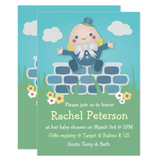 Invitation mignonne de baby shower de Humpty