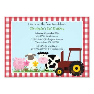 Invitation mignonne de fête d'anniversaire carton d'invitation  12,7 cm x 17,78 cm