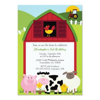 Invitation mignonne de fête d'anniversaire de carton d'invitation  12,7 cm x 17,78 cm