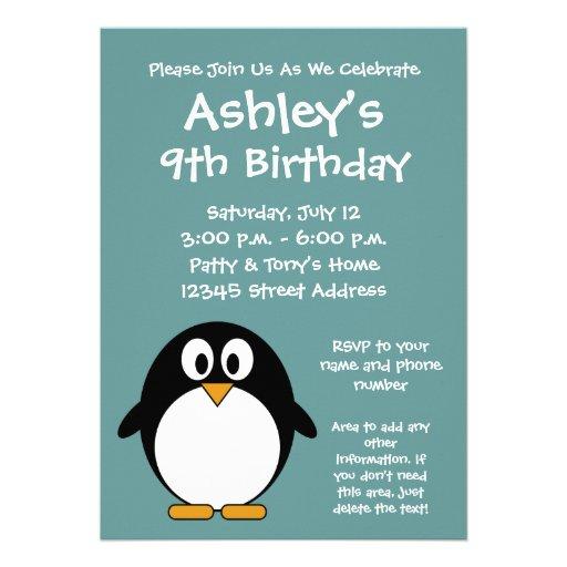 Invitation mignonne de fête d'anniversaire de ping