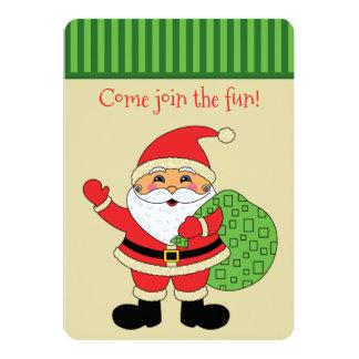 Invitation mignonne de fête de Noël de Père Noël