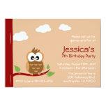 Invitation mignonne de partie d'anniversaire de carton d'invitation  12,7 cm x 17,78 cm
