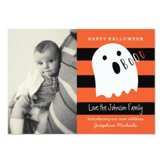 Invitation mignonne de photo de Halloween de bébé