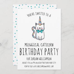 Invitation mignonne drôle de fête d'anniversaire