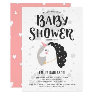 Invitation mignonne et lunatique I de baby shower