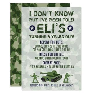 Invitation militaire d'anniversaire d'armée
