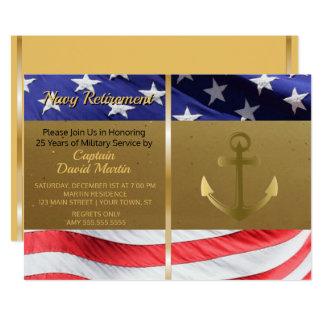 Invitation militaire de partie de retraite de