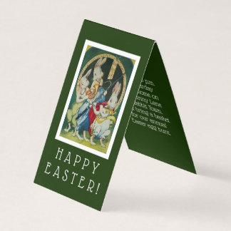 Invitation miniature de partie de Pâques de lapin