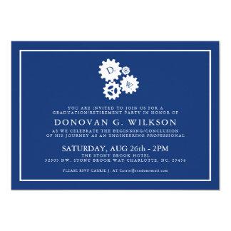 Invitation minimal de marine de l'ingénieur