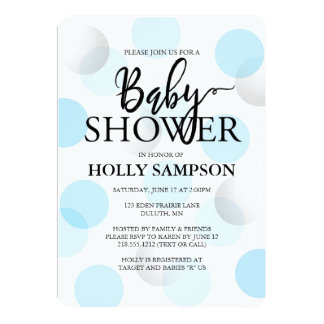 Invitation moderne de baby shower