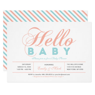 Invitation moderne de baby shower de fille