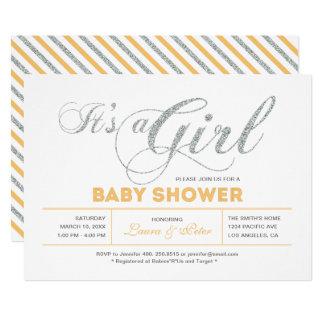 Invitation moderne de baby shower de fille de