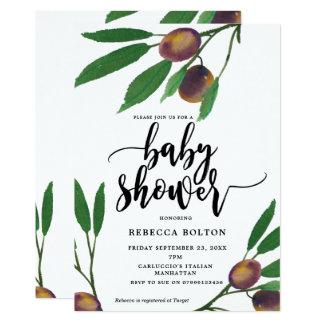invitation moderne de baby shower de laurier de