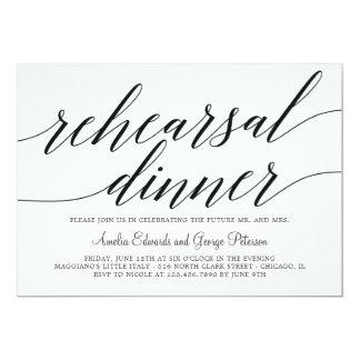 Invitation moderne de dîner de répétition de