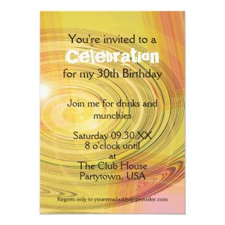 Invitation moderne de fête d'anniversaire de