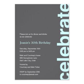 Invitation moderne de partie de célébration -