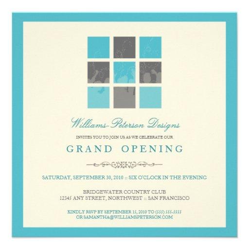 Invitation moderne d'ouverture officielle de blocs