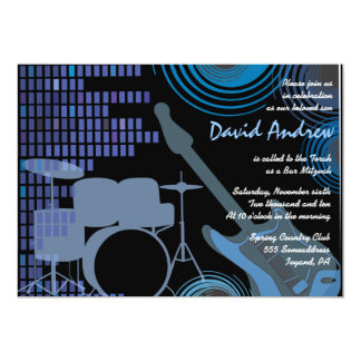 Invitation musicale de bat mitzvah de barre de