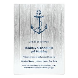 Invitation nautique d'anniversaire