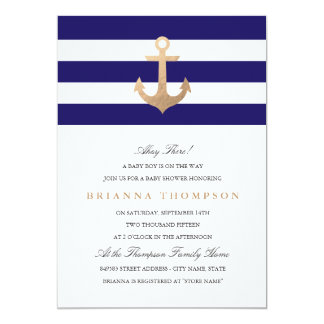 Invitation nautique de baby shower de marine