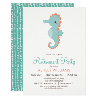 Invitation nautique de partie de retraite