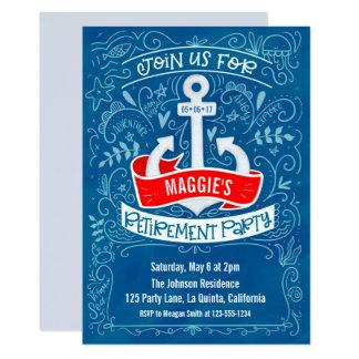 Invitation nautique de retraite d'ancre