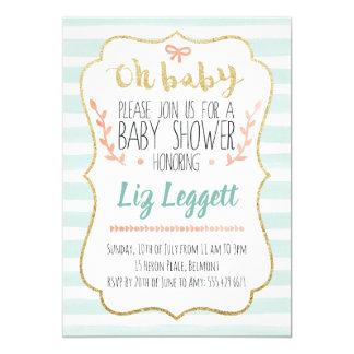 Invitation neutre de baby shower de genre