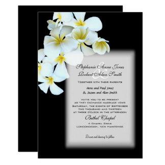 Invitation noir fait sur commande de mariage de