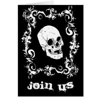 Invitation noire et blanche de partie de Halloween