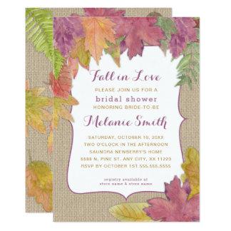 Invitation nuptiale 3973 de douche d'automne de