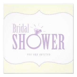 Invitation nuptiale de douche d'anneau de mariage
