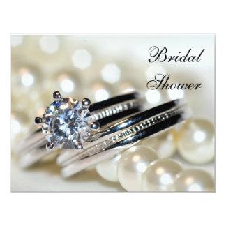 Invitation nuptiale de douche d'anneaux et de