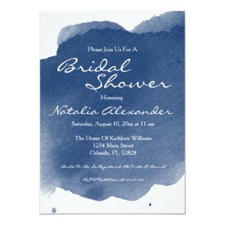 Invitation nuptiale de douche d'aquarelle de bleu