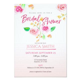 Invitation nuptiale de douche d'aquarelle florale
