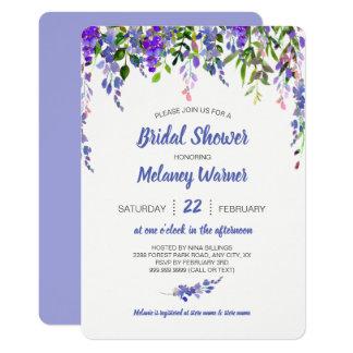 Invitation nuptiale de douche de baisse florale