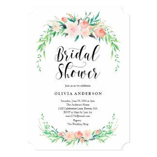 Invitation nuptiale de douche de bouquet sensible
