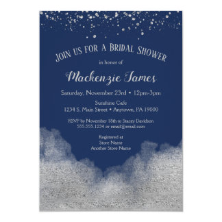 Invitation nuptiale de douche de confettis