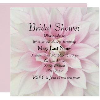 Invitation nuptiale de douche de dahlia blanc