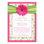 Invitation nuptiale de douche de damassé verte ros